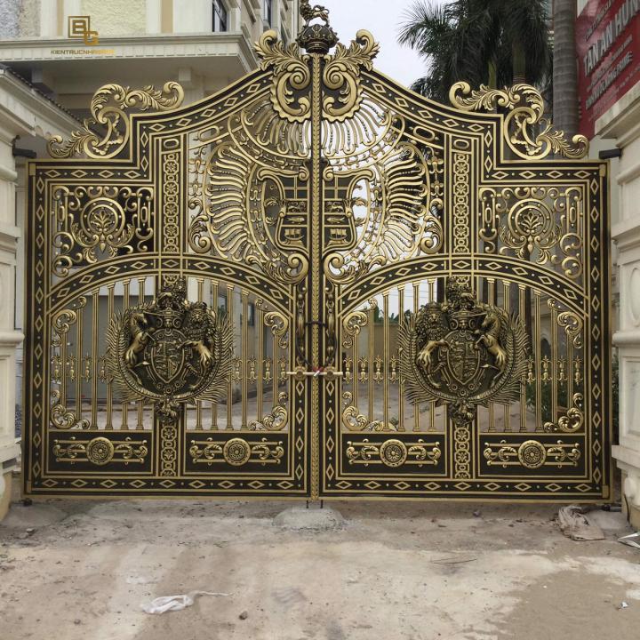 Mẫu cổng nhôm đúc đẹp