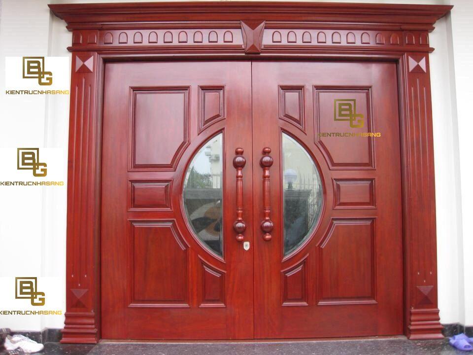 mẫu cửa gỗ đẹp 2 cánh