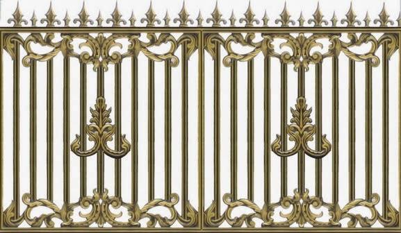 Hàng rào nhôm đúc BG008