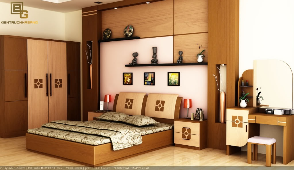 Mẫu nội thất gỗ phòng ngủ BG9122