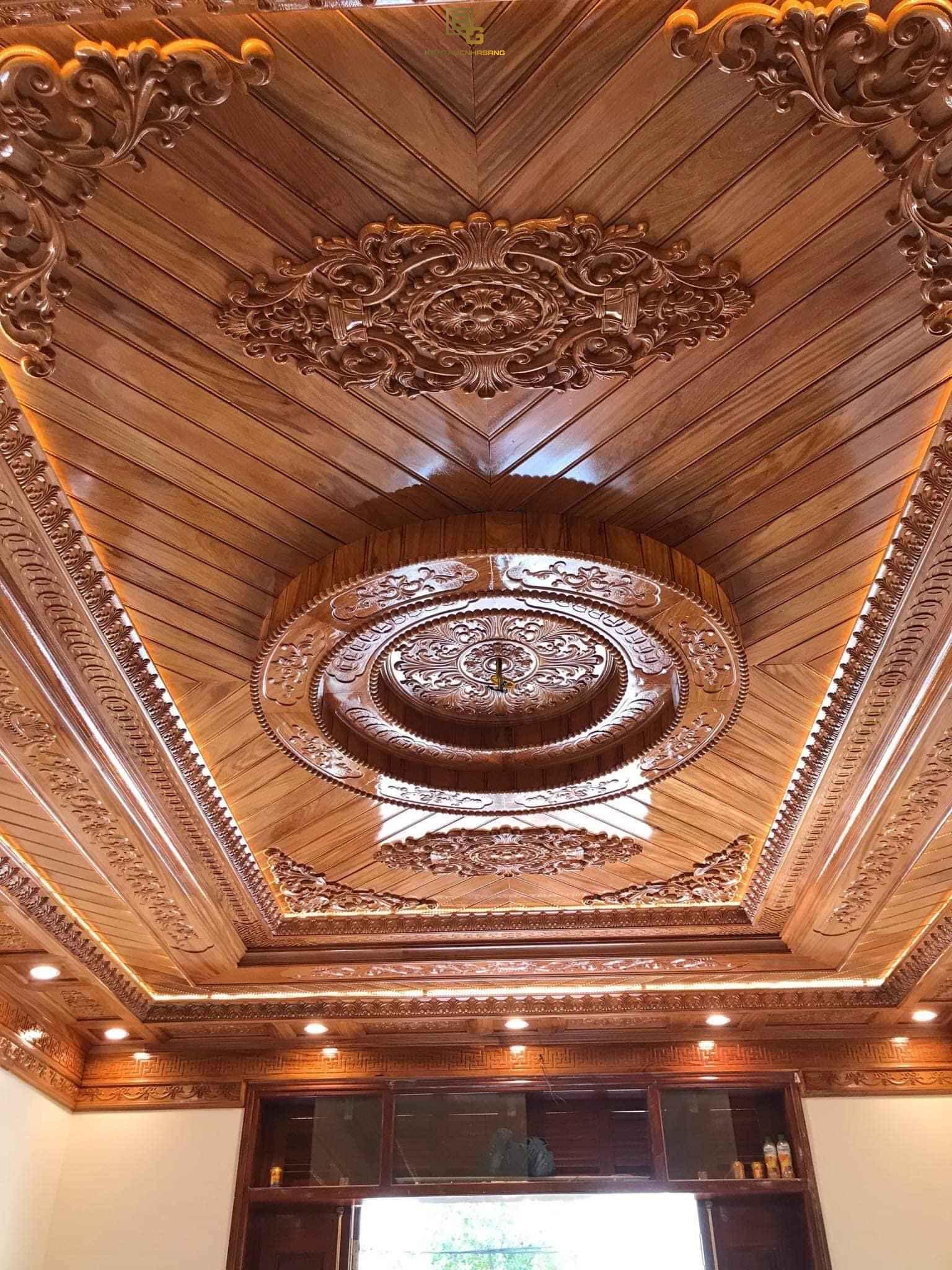 Mẫu trần gỗ BG255