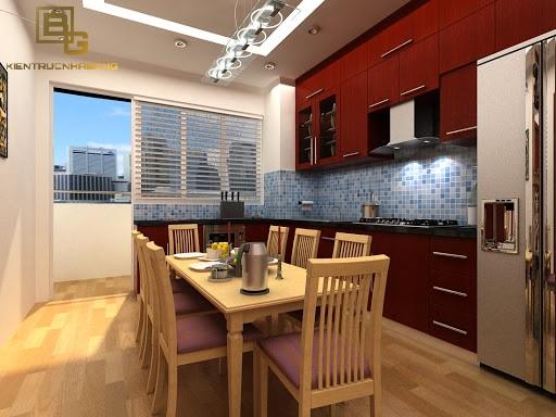Nội thất gỗ phòng ăn cho chung cư BG2893