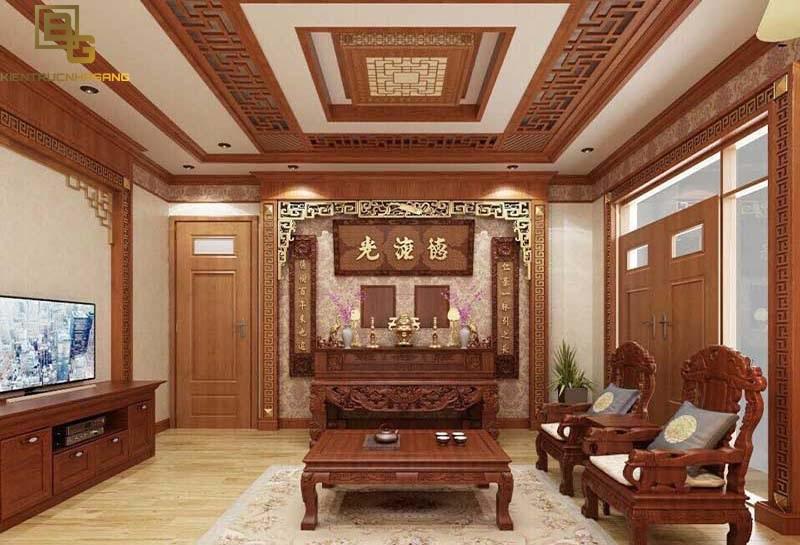 Nội thất gỗ phòng khách đep 1