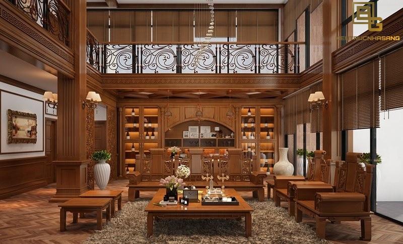 nội thất gỗ phòng khách đẳng cấp